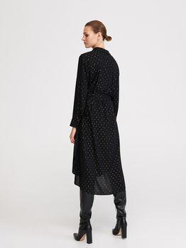 Платье RESERVED Черный в крапинку yf019-99x