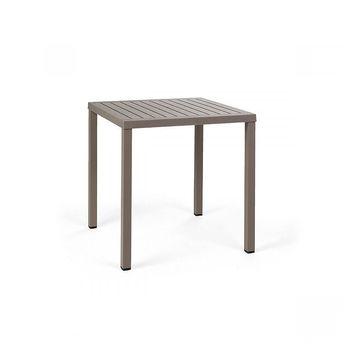 Стол Nardi CUBE 80 TORTORA-vern. Tortora 48059.10.000 (Стол для сада террасы балкон)