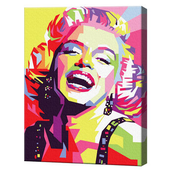 Картина по номерам 40х50 см Мэрилин Монро абстракция