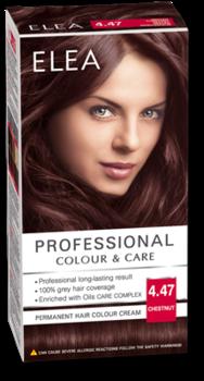Краска для волос,SOLVEX Elea, 138 мл., 4.47 - Каштан
