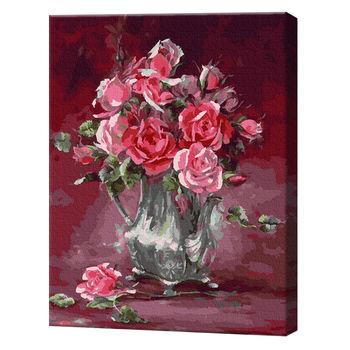 Нежные розы, 40х50 см, картина по номерам