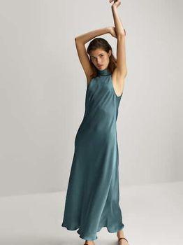 Платье Massimo Dutti Бирюзовый 6641/225/982