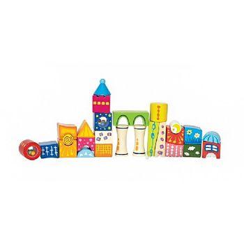 купить Hape Деревянная игрушка Замок из кубиков в Кишинёве