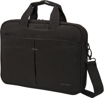 """CONTINENT NB bag 13.3"""" - CC-014 Black, Top Loading"""
