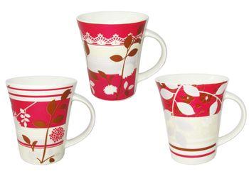 """купить Чашка конус """"Flowers"""" 350ml, красная в Кишинёве"""