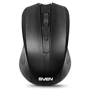 Mouse SVEN RX-300 Wireless, Optical Mouse, 2.4GHz, Nano Reciver, 600/1000 dpi, USB, Black