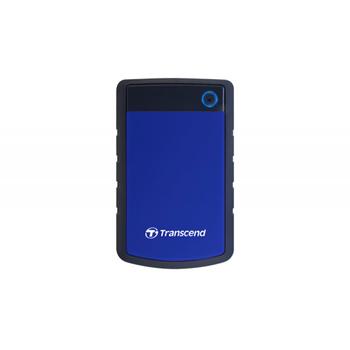 """1,0 ТБ (USB3.1) 2,5 """"Transcend"""" StoreJet 25H3B """", резиновый серый / синий, защита от ударов, резервное копирование в одно касание"""