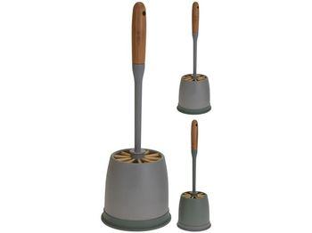 Щетка для WC с подставкой 39cm, бамбуковая ручка