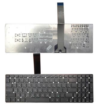 """Keyboard Asus K55 A55 U57 A75 K75 R500 R503 R700 F751 X751 w/o frame """"ENTER""""-small ENG/RU Black"""