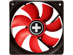 140mm Case Fan - XILENCE XPF140.R.PWM Fan, 120x120x25mm, 700rpm, <30dBa, 62.05CFM, hydro bearing, 4Pin with PWM,  Black/Red