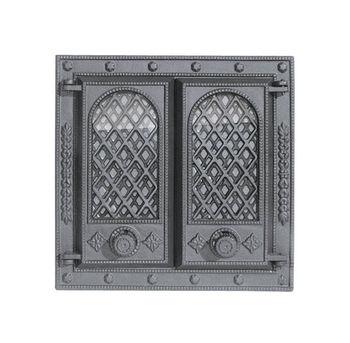 купить Дверца чугунная со стеклом двустворчатая LITWA II в Кишинёве