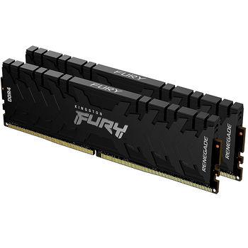 Memorie operativa 32GB DDR4 Dual-Channel Kit Kingston HyperX FURY Renegade Black KF432C16RB1K2/32 32GB (2x16GB) DDR4 PC4-25600 3200MHz CL16, Retail (memorie/память)
