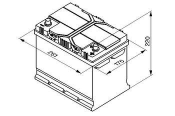 Bosch S4 12V 70Ah 630EN 260x173x225 -/+