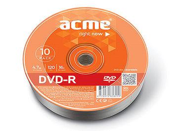 ACME DVD-R 4,7GB 16X 10pack shrink