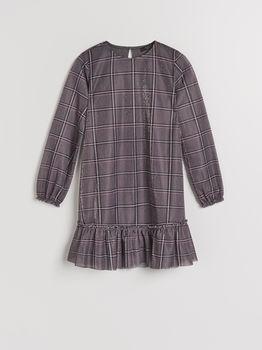 Платье MOHITO Серый в клетку ul795