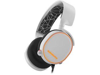 STEELSERIES Arctis 5 / Gaming Headset with retractable Best Mic in Gaming, ClearCast,  7.1 Surround Sound, 40mm neodymium drivers, Prism RGB Illumination, Compatibility (PC/Mac/PS/VR/Mobile), Cable lenght 3.0m, USB+3.5mm jack, White