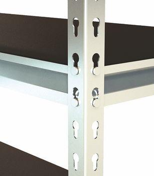 Стеллаж металлический Moduline 1490x305x1530 мм, 4 полок/0164PE антрацит