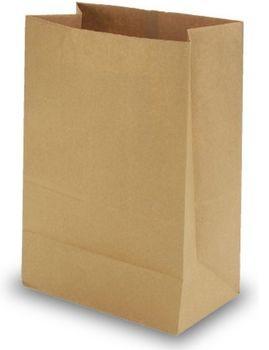 Бумажные крафт пакеты без ручки 22*11*31 см