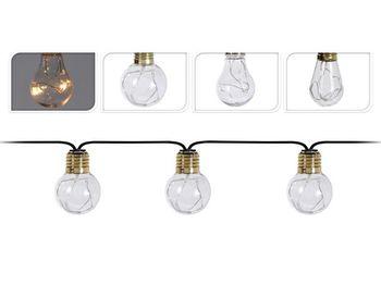 Гирлянда LED 10ламп золот для освещ дома/дачи, тепл.-б,бата