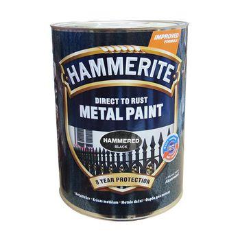 Hammerite Краска для металла Черная молотковая 2.5л