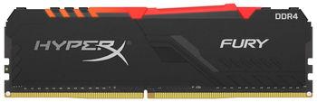 16GB DDR4-3733  Kingston HyperX® FURY DDR4 RGB, PC29800, CL19, 1.2V, Auto-overclocking, Asymmetric BLACK heat spreader, Dynamic RGB effects featuring HyperX Infrared Sync technology, Intel XMP Ready (Extreme Memory Profiles)