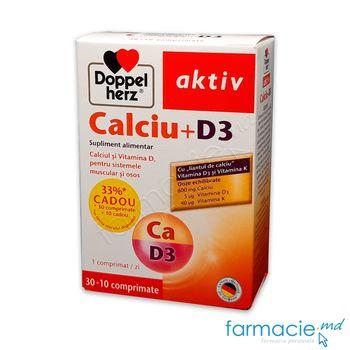 cumpără Calciu-D3 comp. 600mg+5mkg N30+10 Cadou Doppelherz în Chișinău