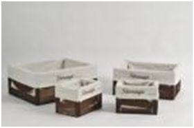купить Корзина из дерева 390x300x180 мм,коричневый в Кишинёве
