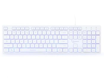 купить Gembird KB-UML3-01-W-RU Multimedia keyboard, Silent в Кишинёве