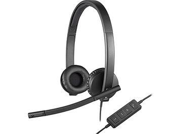 Logitech Headset USB Stereo H570e Black, Headset: 31.5Hz-20kHz, Microphone: 100Hz-18kHz, 2.5m cable, 981-000575 (casti cu microfon/наушники с микрофоном)