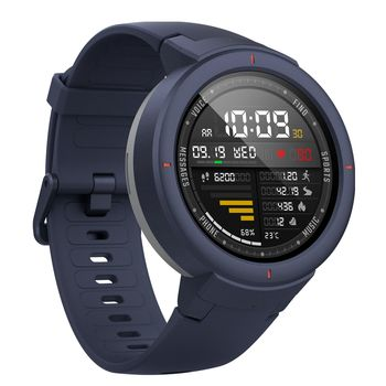 "Xiaomi ""Amazfit Verge"" Blue, 1.30"" Amoled Display, GPS, Heart Rate, Steps, Calories, Sleeping Quality Tracking, Smart Alarm, Distance Display, Average Daily Steps, Time, Weather, Accept incoming calls, Notifications, Operating time 5days, IP67"