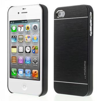 """Чехол """"MOTOMO"""" металлический черный для iPhone 4 / 4S 631608"""