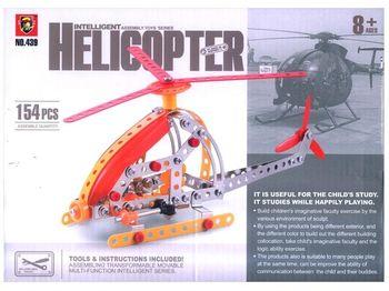 "Конструктор ""Вертолет"", 154дет 28Х20Х4.5cm"