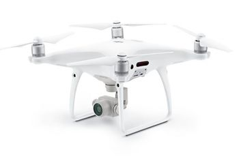 (138416) DJI Phantom 4 Pro (EU) - Professional Drone, Obstacle Avoidance, RC, 20MP, 4K 60fps camera with gimbal, max. 6000m height/ 72 km/h speed, flight time 30 min, Battery 5870 mAh, 1388g, White