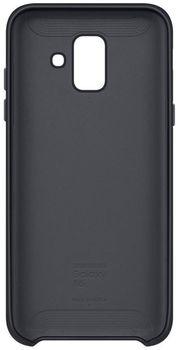 купить Чехол для моб.устройства Samsung EF-PA600, Galaxy A6, Dual Layer Cover, Black в Кишинёве