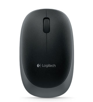 Logitech Wireless Mouse M165 Black, Optical Mouse for Notebooks, Nano receiver, Grey/Black, Retail