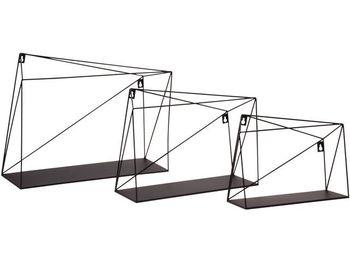 Набор полок Геометрия 3шт 15/25/35X28X12cm, металл