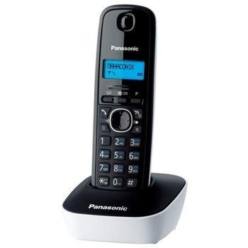 Telephone Dect Panasonic KX-TG1611UAW, White, AOH, Caller ID (журнал на 50 вызовов), телефонный справочник (50 записей), русскоязычное меню, 12 мелодий звонка, подсветка дисплея, до 15 часов в режиме разговора, до 170 часов в режиме