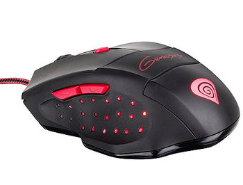 Genesis GX57 Optical Gaming Mouse, 6 programmable buttons, 4 backlight colors, 4000dpi, 6666fps, 60ips, 1000Hz, 2m, USB (mouse/мышь)