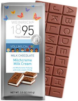 Шоколад молочный ABC с кремом Weinrichs 1895 100г
