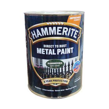 Hammerite Краска для металла Темно-Зеленая молотковая 0.75л