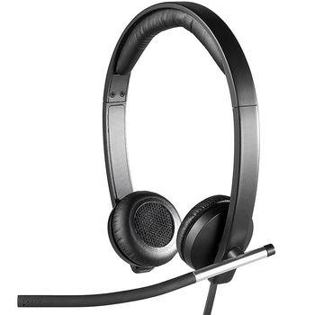 Logitech USB Headset H650e Dual, Bi-directional ECM noise-canceling mic Freq. resp: 100 Hz - 10 KHz Sensitivity: -45 dB +/- 3 dB, 2.5m cable, 981-000519 (casti cu microfon/наушники с микрофоном)