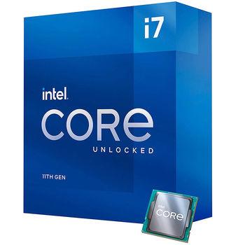 Процессор CPU Intel Core i7-11700K 3.6-5GHz 8 Cores 16-Threads, vPro (LGA1200, 3.6-5GHz, 16MB, Intel UHD Graphics 750) BOX no Cooler, BX8070811700K (procesor/Процессор)