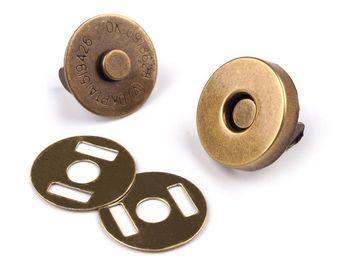 Capse magnetice, alamă antică, Ø14 mm
