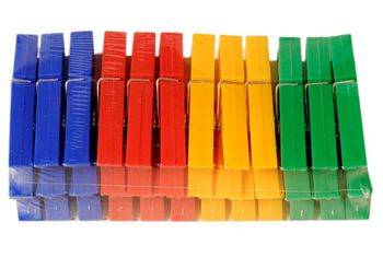 Набор прищепок 24шт, пластик, разных цветов