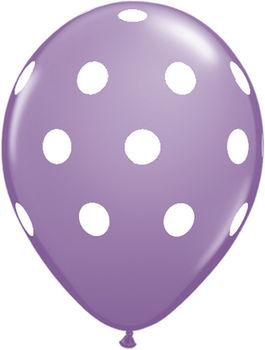 купить Шарик с Гелием в Горошек - Бледно Фиолетовый в Кишинёве