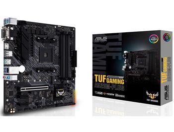 Материнская плата ASUS PRIME TUF GAMING A520M-PLUS A520, AM4, Dual DDR4 4800MHz, PCI-E 3.0 x16, D-Sub/DVI-D/HDMI 2.1, USB 3.2, SATA RAID 6Gb/s, M.2 x4 Socket, SB 8-Ch., GigabitLAN, Aura Sync RGB, (placa de baza/материнская плата)