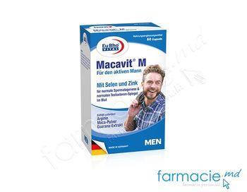 купить Macavit M + Seleniu + Zinc caps. N60 EuRho Vital в Кишинёве