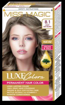 Vopsea p/u păr, SOLVEX Miss Magic Luxe Colors, 108 ml., 8.1 - Blond cenușiu deschis