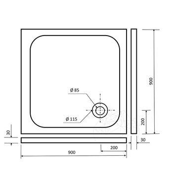 купить Травертиновая ванна Silver ST-012 SBSS, 90 х 90 х 3 см в Кишинёве