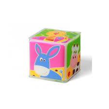 """Мягкий кубик """"Домашние животные"""" - 1 штука. 7,5х7,5 см"""